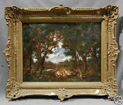 Signed 20th Century European Antique Oil Painting Possibly Hermann Lipot