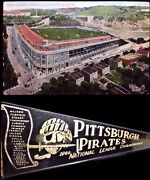 Pittsburgh Pirates Baseball Wool Pennant And Very Rare Forbes Field 1st Post Card