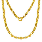 14k Yellow Gold Handmade Fashion Link Necklace 18 4.5mm 30.6 Grams