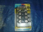 New Universal Calterm 08450 Glass Style Fuse Block 4 Circuits 1/4 Tabs