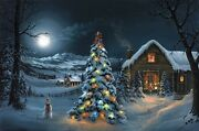 Jesse Barnes The Spirit Of Christmas 24x36 Le Unstretched Canvas New, Mint W/coa
