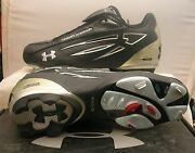 Under Armor Metal Thief Baseball Cleats Size 12 New In Box Black / Silver