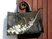 Vintage Japanese Kimono Hand Bag Hand Purse Created In Thailand W/ Free Shipping