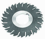 12 X 1/8 X 1-1/2 Hss Metal Slitting Saw With Staggered Side Teeth