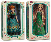 Disney Limited Edition Deluxe 17 Frozen Fever Elsa And Anna Dolls Nib