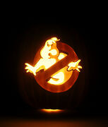 30th Anniversary Ghostbusters No-ghost Logo Hand-carved Foam Pumpkin 12