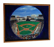 Robert Stephen Simon Original 1989 Yankee Stadium Oil Painting 1/1 Framed Coa