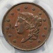 1837 N-15 Pcgs Xf 40 Medium Letters Matron Or Coronet Head Large Cent Coin 1c