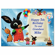 Large Bunny Personalised Birthday Card To Any Age Name For Little Or Big D628