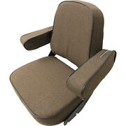 Brown Fabric Seat Assembly For John Deere 2520 2940 4030 4240 5020 ++ Tractor