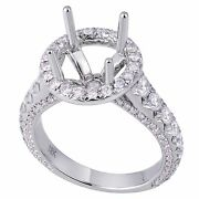 18k White Gold 1.45ct Diamond Solitaire Ring With Halo Sizable