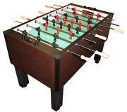 Gold Standard Home Pro Mahogany Foosball Table Chrome Rods And Wood Handles