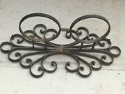 Decorative Antique Iron Candle Holder With Scrollwork