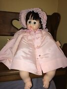 Vintage 1977 Madame Alexander Pussy Cat Baby Doll Ma270 Pink Dress 20