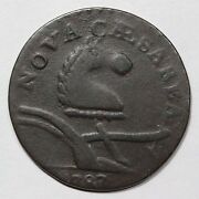1787 56-n Camel Head New Jersey Cent Colonial Copper Coin