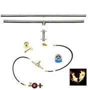 T48itck+ In-table Diy Gas Fire Pit Kit And 48 Lifetime Warranted 316 Burner