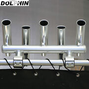 Dolphin 5 Rod Holder Fishing Center Console Boat T Top Rocket Launcher Anodized
