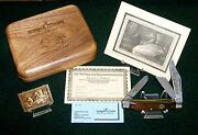 Schrade Ds7 Knife And Stamp 93-94 Classic Stockman 4 W/presentation Case And Papers