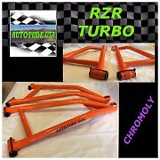And03916 Rzr Xp Turbo Extreme Clearance Arched Chromoly Lower A-arms Orange