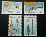 Free Ship Malaysia Musical Instruments 1987 Music Traditional Tools Stamp Mnh