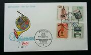 Germany Musical Instruments 1973 Drum Guitar Traditional Stamp Fdc