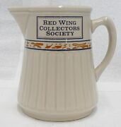 Red Wing Pottery Collectors Society 1989 Gray Line Pitcher