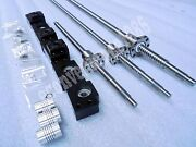 3 X Rm1605--1200 Mm Mechined Ballscrew Andbf12/bk12 And 6.3510mm Coupering