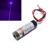 Industrial Violet Blue 405nm 100mw Laser Dot Diode Module W/ Driver In 13x42mm