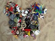 Disney Trading Pins Lot Of 75- Free Priority Shipping-100 Tradeable No Doubles