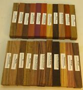 22 Different Exotic Wood Pen Blanks Andfrac34andrdquox5andrdquo Cocobolo Zebrawood Bocote M-22
