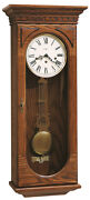 613-110 Howard Miller Key Wound Chime Wall Clock Westmont