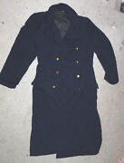 Nice Older East German Navy Winter Large Military Coat Jacket 48 Inches Tall