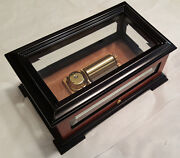 Reuge Exclusive Crystal Music Box With 1.50 Note Movement-waltz Of The Flowers
