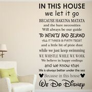 We Do Disney House Rules Vinyl Wall Art Sticker Quote Kids Family Decal