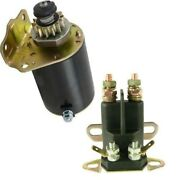 New Starter/solenoid Kit For Cub Cadet Lt18 Briggs And Stratton 18.5 2004
