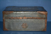 19 Th Century Pewter/copper Colonial Box Oriental Decoration Initials Cmc 1880