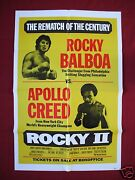 Rocky Ii 2 1979 Original Movie Poster Rematch Style Apollo Creed Balboa Nm-m