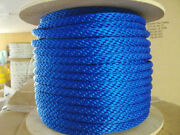 Anchor Rope Dock Line 5/8 X 350and039 Braided Royal Blue Made In Usa