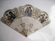 Vintage 1904 Calendar Fan W/ Gorgeous Pictures Of Victorian Boys And Girls