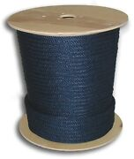 Anchor Rope Dock Line 5/8 X 200and039 Braided 100 Nylon Navy Blue Made In Usa