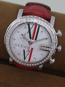 Authentic G Chrono 101m Womenand039s Watch With Red Leather Band