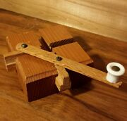 Primitive Wooden Handmade Toy Hand Operated Mechanical Precision Device