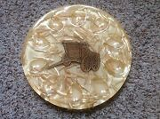 Vintage Lucite Trivet From Colorflo Riverside, Ca. Encased Wagon And Straw Rare