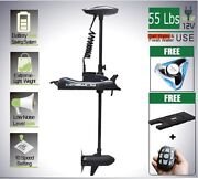 12v 55 Lbs Bow Mount Electric Trolling Motor Hand Control+quick Release Bracket