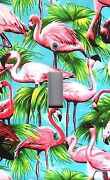 Light Switch Plate Outlet Coverstropical Bird Colorful Flamingos