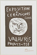 Exposition Ceramiques Vallauris Paques By Picasso Signed Lithograph