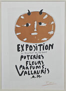 Poteries, Fleurs, Parfums, Vallauris By Picasso Signed Lithograph 10x7
