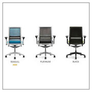 Steelcase Think 3d Chairr - 3d Knit Back Adj. Lumbar 4-way Arms Many Combos