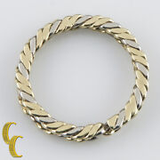 And Co. Vintage Retired 14k White And Yellow Gold Rope Key Ring 12.5 Grams