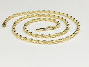 18kt Solid Yellow Gold Diamond Cut Rope Chain Necklace 20 5mm 36 Grams Kdc035